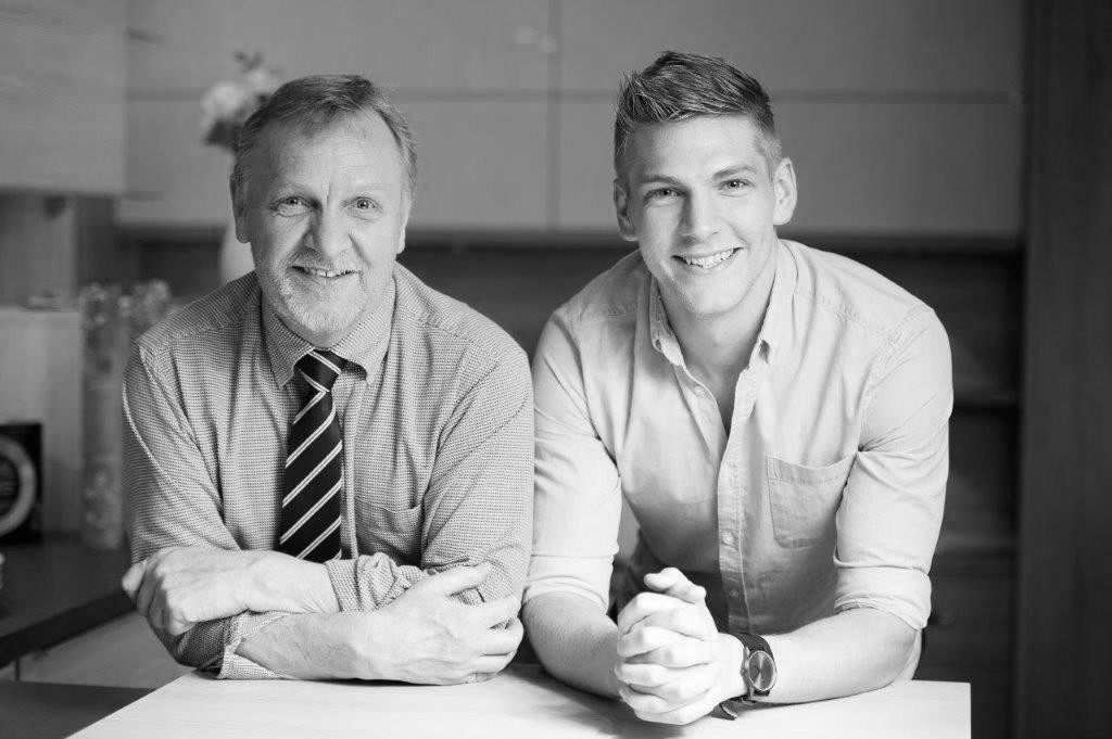 Robin and Josh Holt in our Kitchen Showroom, Bolton