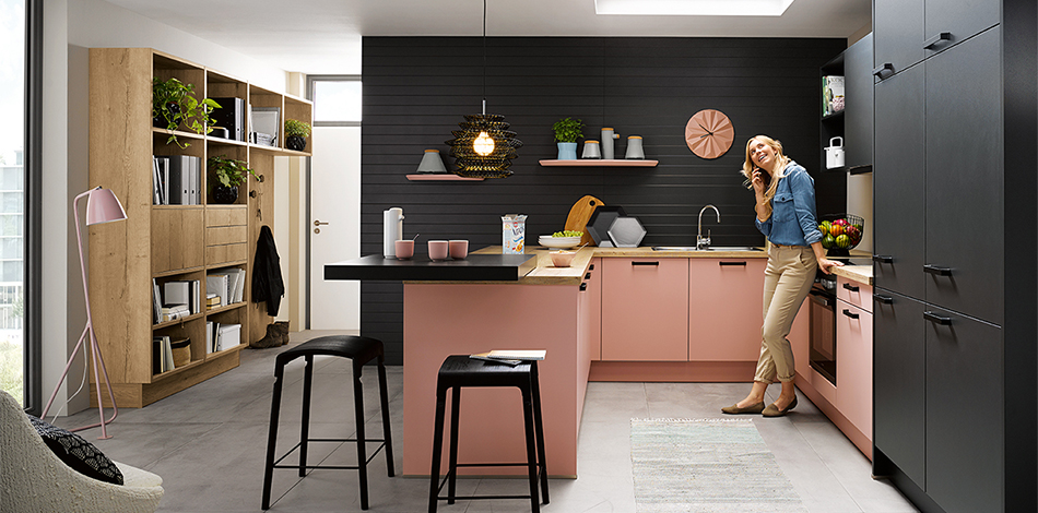 Kueche Biella Pastellrose 1 - 5 fitted kitchen trends to watch out for this year!