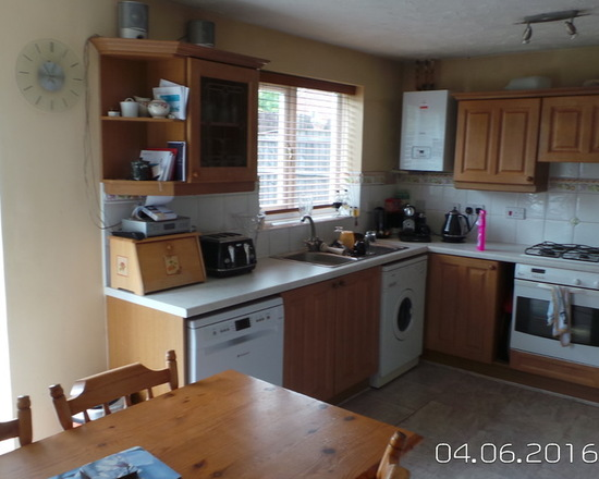 before picture of kitchen installation in Whitefield